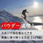 パウダー満喫!スキーで非圧雪エリアを華麗に滑り降りる方法【入門編】